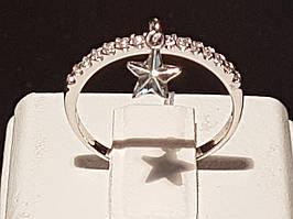 Золотое кольцо с фианитами. Артикул КВ933.5БИ