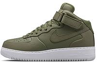 Мужские высокие кроссовки Nike Air Force, найк аир форс зеленые
