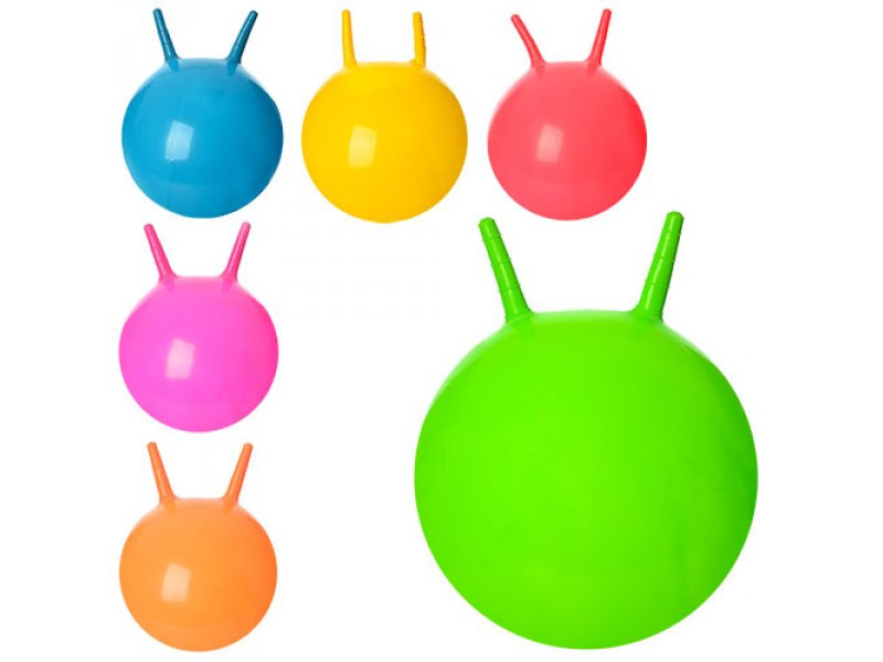 Мяч для фитнеса с рожками, 38см, MS 0938