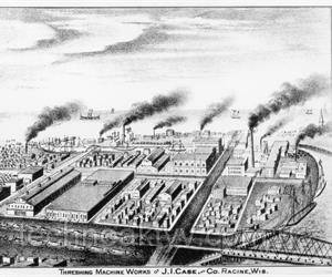 1871  Великий чикагский пожар уничтожил завод Маккормика. J.I. Case предлагает Маккормику выпускать его машины.