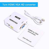 HDMI к VGA Конвертер, С Аудио HDMI2VGA 1080 P Разъем Адаптера Для Портативных ПК к HDTV HDMI 2 VGA.к мониторам