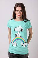 Женская футболка прямого кроя
