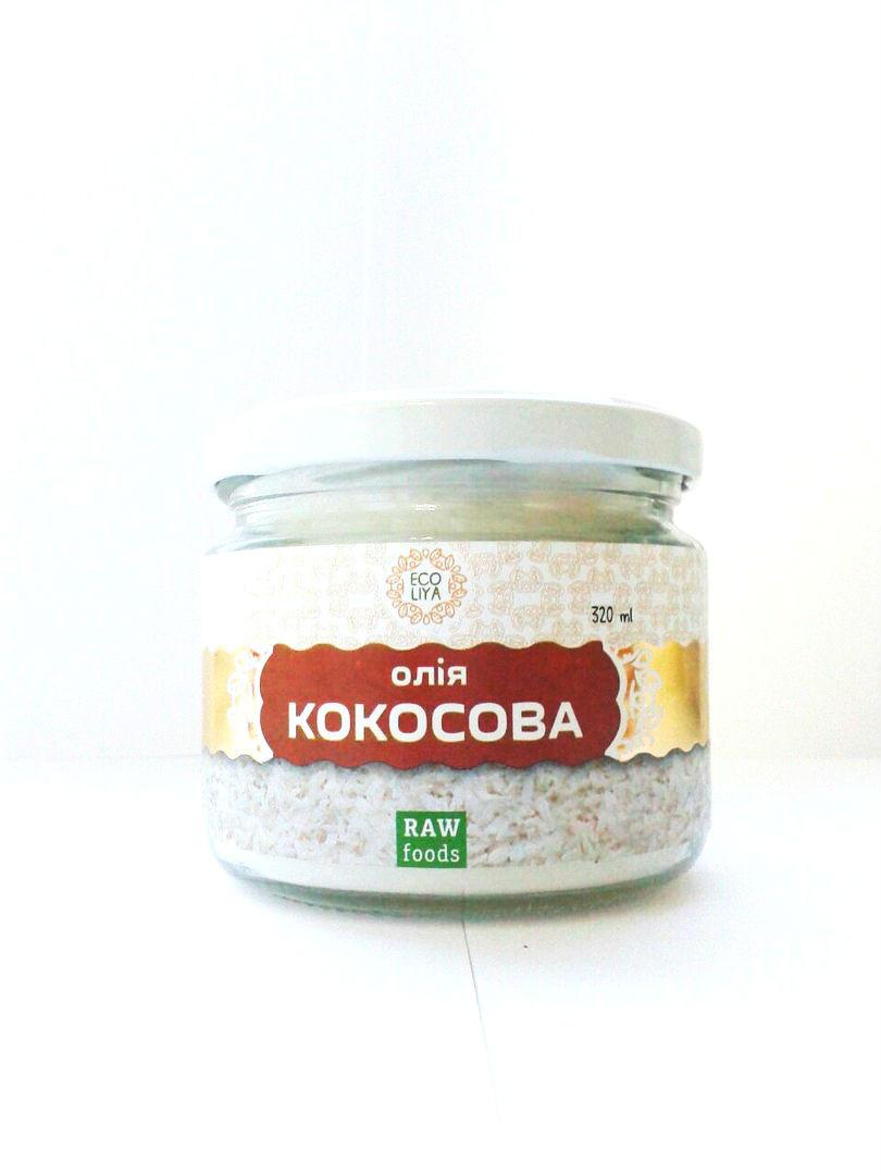 Кокосовое масло холодного отжима Ecoliya 180 мл