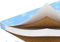 Матрасик ортопедический в кроватку: кокосовая койра (2 толст.слоя) +паралон