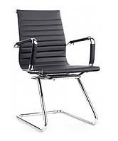 Кресло офисное Алабама Х черный точная копия дизайнерского кресла Ribbed EA  от Charles and Ray Eames