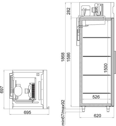 Холодильна шафа Polair CB105-S, фото 2