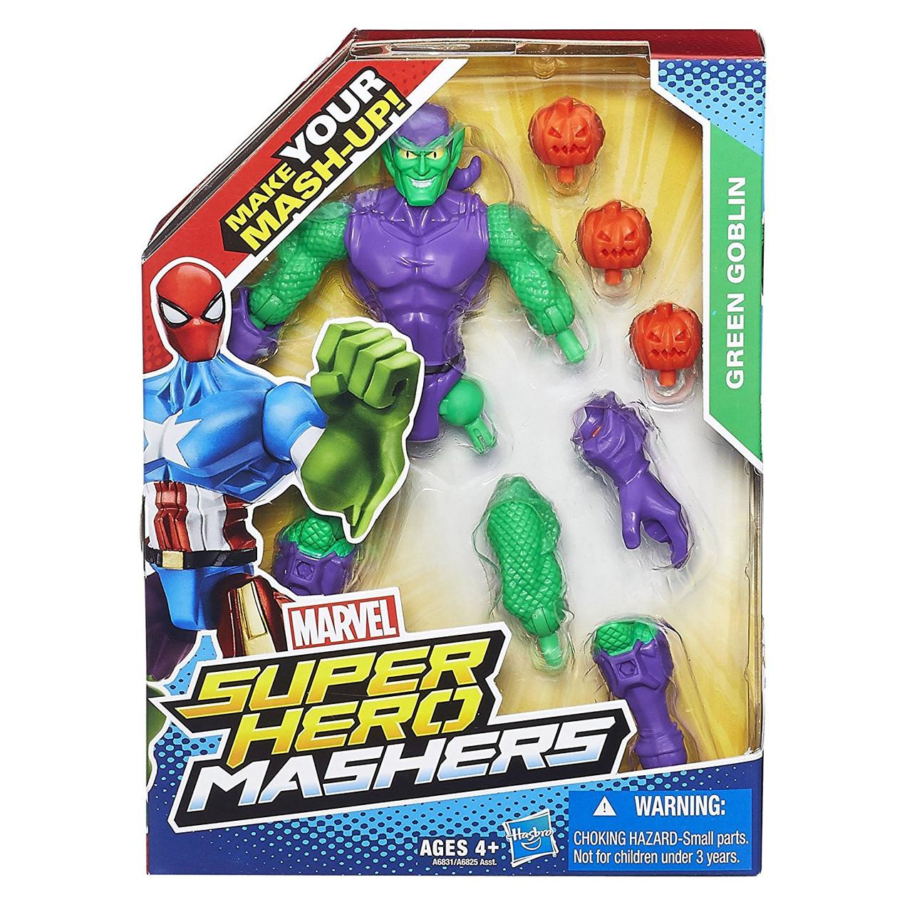 Разборная фигурка супергероя Зеленый Гоблин - Green Goblin, Marvel, Mashers, Hasbro