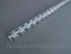 Карниз оцинковка 1,25 м. для завесы
