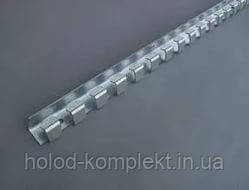 Карниз оцинковка 1,25 м. для завесы, фото 2