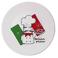 Тарелка для пиццы Bormioli Rocco серия Piatti Pizza, Pizza Chef (33 см)