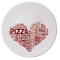 Тарелка для пиццы Bormioli Rocco серия Piatti Pizza, I Love Pizza Red (33 см)