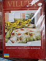 """Постельное белье """"Viluta"""", полуторный комплект, 214х150, цветочный принт, фото 1"""
