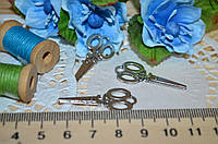 Металлический декор Ножници серебро