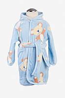 Халат велюровый Twins Bears 110-116 blue