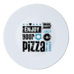 Тарелка для пиццы Bormioli серия Piatti Pizza, Rustic Pizza Light Blue (33 см)