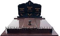 Потрійний гранітний пам'ятник 3004