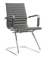 Кресло офисное Алабама Х серый точная копия дизайнерского кресла Ribbed EA  от Charles and Ray Eames