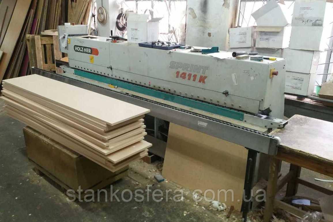 Holz-Her 1411K б/у кромкооблицовочный станок проходной 2000г.в.