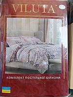 """Постельный набор """"Viluta"""", полуторный комплект, 214х150, цветочные мотивы"""