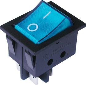 Переключатель с подсветкой IRS-201-3C3 ON-OFF, 4pin, 12V, 35А, синий