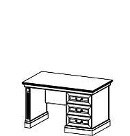 BARCELONA Классический письменный стол с дерева BA-m Taranko