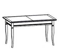 CERES CLASSIC Классический Стол обеденный на кухню с дерева CС-1 Taranko
