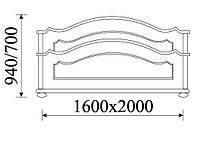 OL-TAR Кровать классическая деревянная160 Taranko