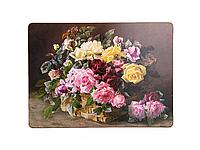 Подставки под горячее 40*29 см (набор 4 шт) Розы в лукошке