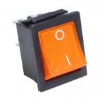 Переключатель с подсветкой IRS-201-3C3 ON-OFF, 4pin, 12V, 35А, жёлтый