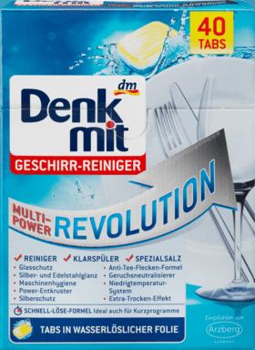 Таблетки для посудомоечных машин Denkmit Multi-Power Revolution, 40st.