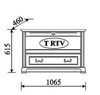 TARANTINO Классический Тумба для телевизора с дерева T-RTV Taranko