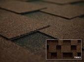 Битумная черепица Kerabit Квадро Classic коричнево-чорный