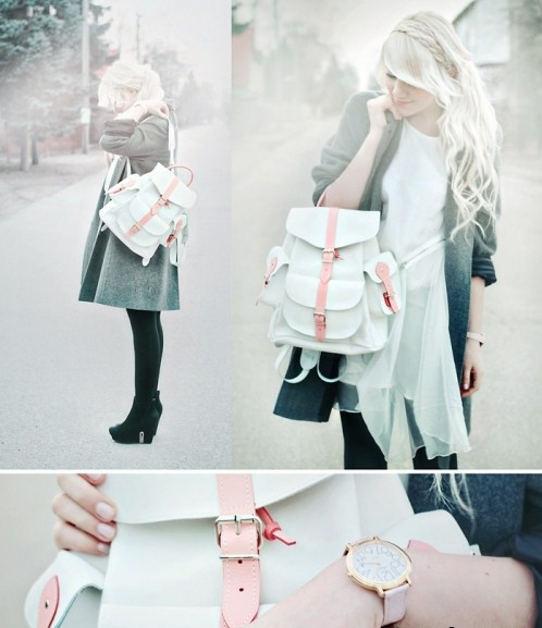 Сочетание городского стиля и рюкзака