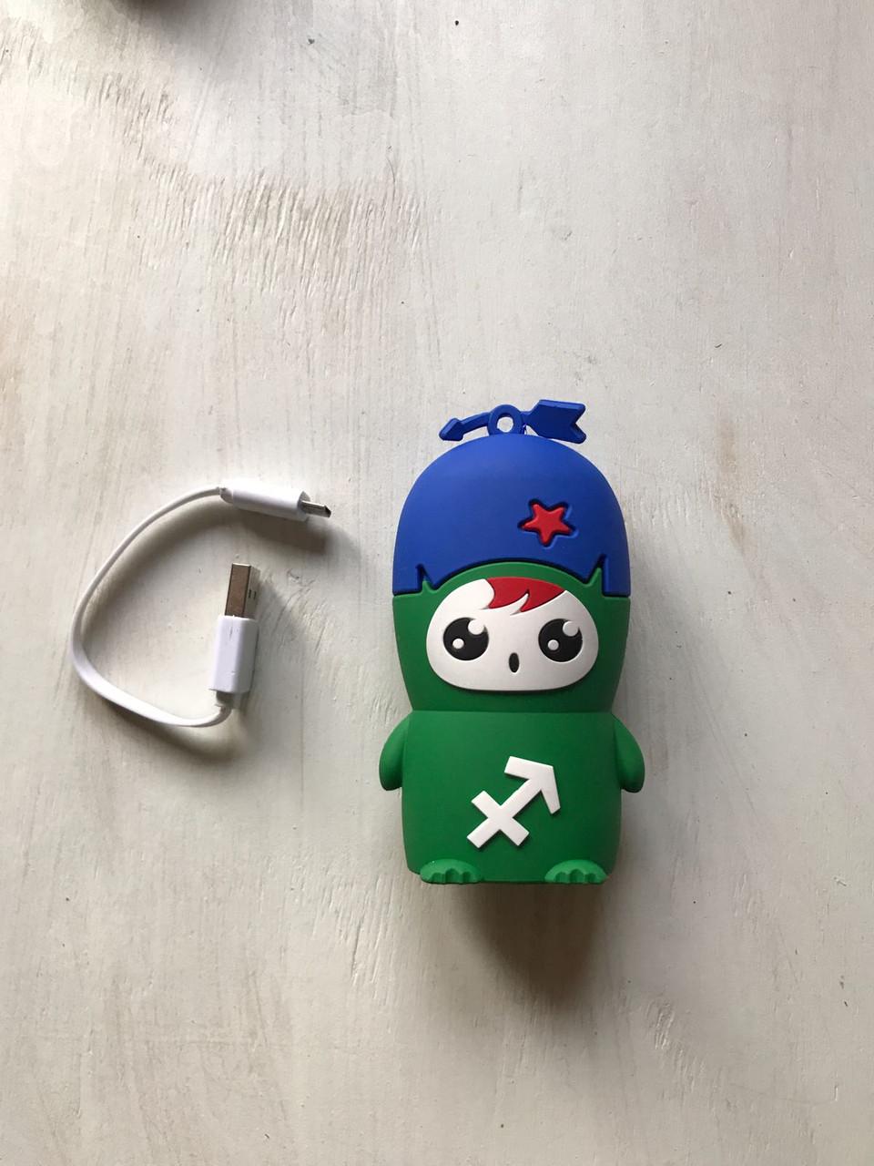 Дополнительный аккумулятор зелёный человек для телефона 8800 мАч