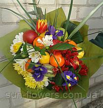 """Веган -букет """"весенние цветы плюс фрукты"""" Запорожье"""