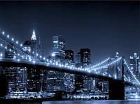 Алмазная мозаика Город в ночных огнях 50 х 60 см (арт. FR450) , фото 1