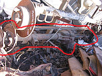 Мост (чулок + редуктор + полуоси) однокатковый  б/у на VW LT 28-35 год 1975-1996