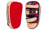 Пэда (тай-пэд) Прямая (1шт) Кожа ZELART ZB-3063 (поддержка для рук, 32*9*19 см, красно-бежевый)