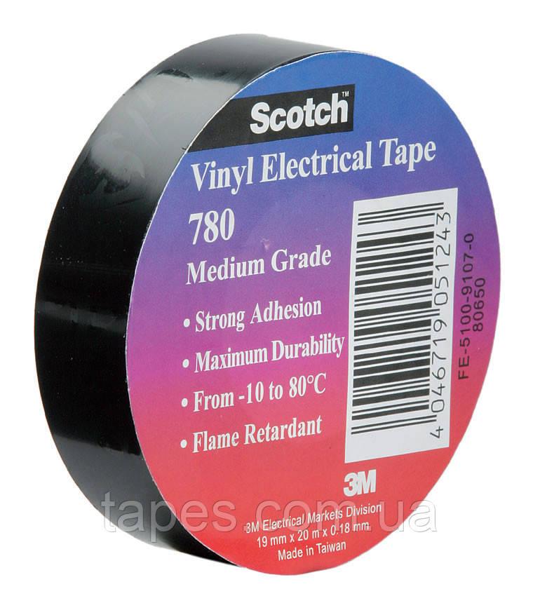 Изолента 3М Scotch™ 780 лента общего применения хорошая электрическая прочность (19мм х 20м х 0,18мм)