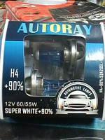 Автомобильная лампа H4 60/55W AUTORAY+90% (52420SL) Box