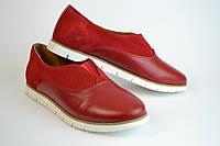 Туфли женские красные комбинированные