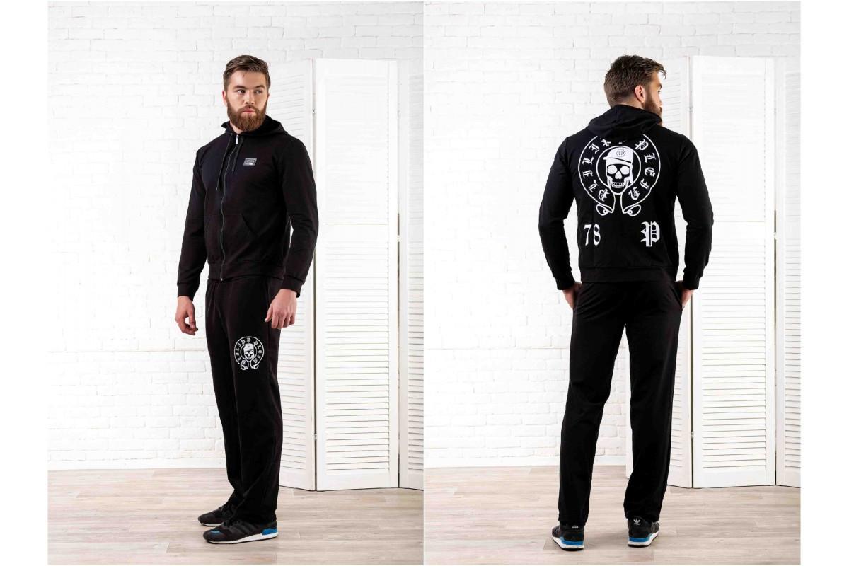 e9356677 Мужской спортивный костюм Филипп Плейн черный - Интернет-магазин ОПТОМ от  5ед.