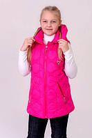 Детская Куртка- жилетка на девочку весна-осень (трансформер)  4 цвета - 34,36,38,40,42 размер