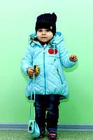 Детская демисезонная  Куртка (парка) на девочку +сумочка в подарок 1 года