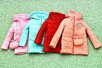 Детская демисезонная  Куртка (парка) на девочку +сумочка в подарок 1,2,3,4 года