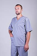 Мужской медицинский костюм серый