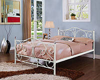 Белая металлическая кровать 160 х200 Krisztal