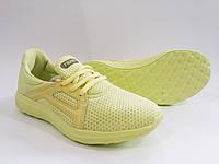 Женские удобные легкие лимонные кроссовки для спорта, бега, текстиль Razor