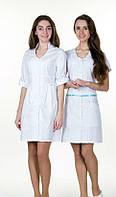 Женский медицинский халат, цвета в ассортименте, р.40-64, фото 1
