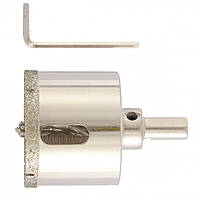 Сверло алмазное по керамограниту, 60 х 67 мм, 3-гранный хвостовик MATRIX